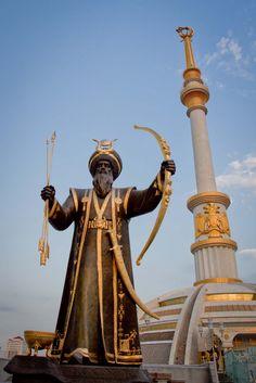 Independence Monument, Ashgabat, Turkmenistan.