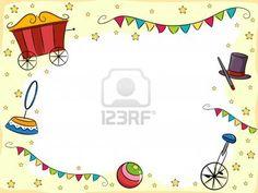 Invitation anniversaire enfant thème cirque.