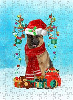 German Shepherd Dog in Snow Jigsaw Puzzle, Christmas, 1000 Pieces Jigsaw Puzzle PrintYmotion #German Shepherd #Dog Lovers gift #Christmas Gift #Christmas Puzzle Lovers Gift, Gift For Lover, Dog Lovers, Dogs Golden Retriever, Retriever Dog, Buy German Shepherd, Christmas Puzzle, Love Challenge, Snow Dogs