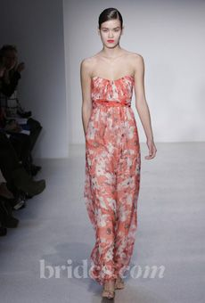 This coral Amsale Bridesmaid Dress from her Fall 2013 collection would be amazing for summer bridesmaids.
