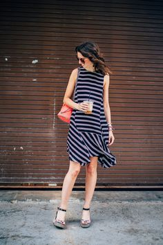 A.L.C. striped dress for summer by The Shoe Diet