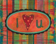 I love you, wild heart, gypsy heart, boho art, indie art, whimsical, love heart, true love, pure heart, colorful mixed media, love, forever - pinned by pin4etsy.com