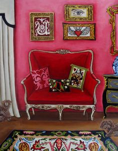 fine art print from the original painting-I Love You-by catherine nolin