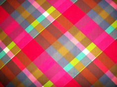 Vintage Bright Plaid Cotton Fabric
