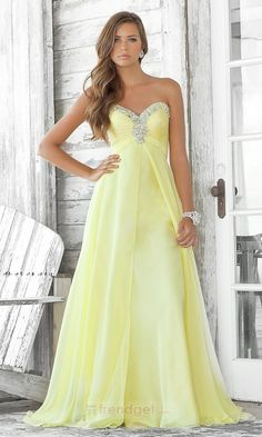 .Simply A-line Sweetheart Floor-length Chiffon Colored Military Ball Dresses