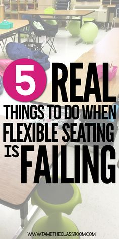 Flexible seating…you've introduced it in your classroom but now it's not working. Don't throw in the towel just yet. Here are 5 things you can do before you quit flexible seating for good. #flexibleseating #flexibleseatingmanagement #flexibleseatinghelp #flexibleseatingideas #flexibleseatingclassroom