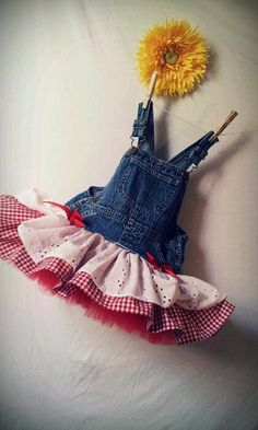 The Farmers Lil Daughter - Overall Tutu Skirt- Infant - Toddler - Girls - Newborn - 4T - Tutu Skirt via Etsy