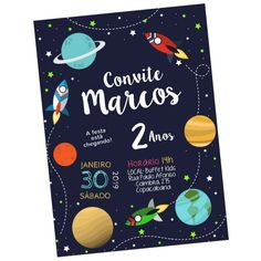 2nd Birthday Party Themes, 1st Boy Birthday, Nasa Party, Outer Space Party, Space Theme, Balloon Decorations, Party Printables, Baby Shower Parties, First Birthdays