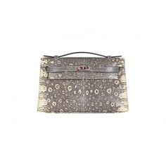 Pre-Owned  Hermes Kelly Pochette Clutch Cut Ombre Lizard (€37.970) ❤ liked on Polyvore featuring bags, handbags, clutches, hermes pochette, hermes clutches, colorful clutches, colorful handbags and plastic purse