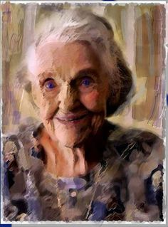 An old woman - such beauty in this painting. tosi nainen, on kaunis vanhanakin!