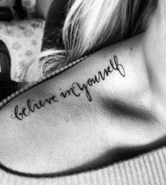 Believe in yourself shoulder tattoo