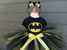 Custom Tutus...BAT GIRL tutu set..size 3,6,9,12,18,24 months and 2T,3T,4T,5T,6T years,costume...birthday tutu, photo prop, batman. $65.00, via Etsy.