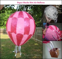 paper mache hot air balloons | Mommyhood Craft Corner: Paper Mache Hot Air Balloon Piñata {or ...