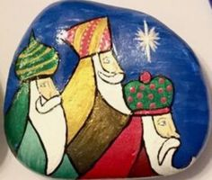 Christmas, Wisemen, Nativity, Religious Painted Rock