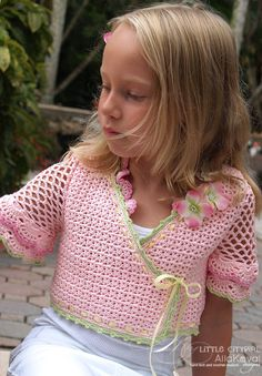 Sunlit Rose Crocheted Bolero Pattern Sz 2-12 PDF eBook
