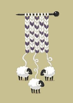 knitting, sheeps