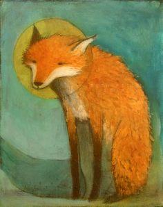 Red Fox Sitting by SethFitts on DeviantArt