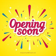 Opening soon background in flat style Free Vector Food Graphic Design, Typo Design, Graphic Design Posters, Lettering Design, Banners, Typographie Fonts, Banner Design Inspiration, Font Art, Sale Banner