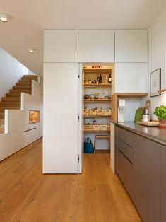 Decor, Interior, House Paint Interior, Popular Interiors, New Kitchen, White Modern Kitchen, Sweet Home, Room Layout, Kitchen Design