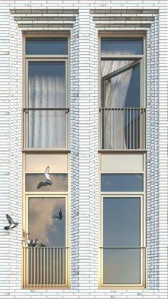 New Ideas House Facade Design Classic Brick Masonry, Brick Facade, Facade House, Brick Architecture, Residential Architecture, Architecture Details, Brick Design, Facade Design, Modern Brick House