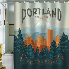 Portland Shower Curtain 69x70 now featured on Fab.