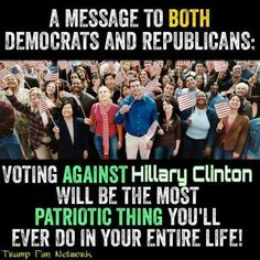 Indeed !!! If you love America do not vote for HilLIARy !!!
