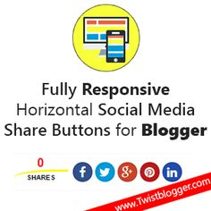 Add Custom Social Media Share Buttons to Blogger Posts