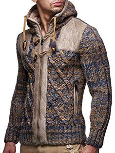 8ec99560a00911 LEIF NELSON Herren Strickjacke Pullover Hoodie Jacke Sweatjacke Sweatshirt  Sweater Pulli Winterjacke Freizeitjacke: Amazon.de: Bekleidung
