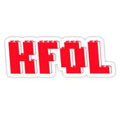 """KFOL Kid Fan by Customize My Minifig"" Stickers by ChilleeW   Redbubble"