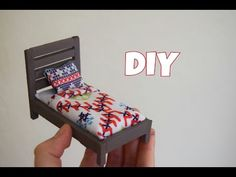DIY | Miniature Corner Sofa | Dollhouse Miniatures - YouTube