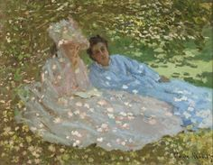 Two Women in a Garden (also known as Madame Monet dans un jardin) | LACMA Collections