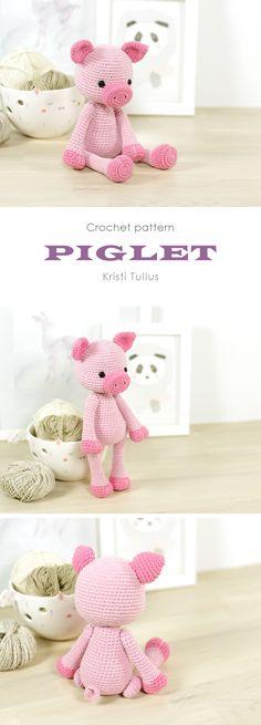 Crochet pattern: 4-way jointed pig // Kristi Tullus (spire.ee)