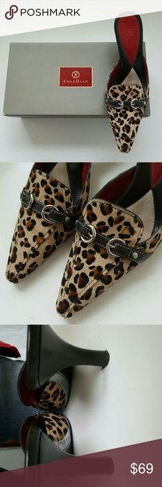 COLE HAAN SHOES w/BOX Comes with box Leopard print, calf hair 3 inch heel  Great condition in box Sz 8AA Cole Haan Shoes