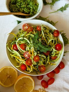 Raw Kale Pesto with Zucchini Noodles Recipe on Yummly