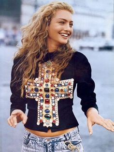 Christian Lacroix.  This was the very first time jeans had ever been featured on the cover of Vogue magazine.