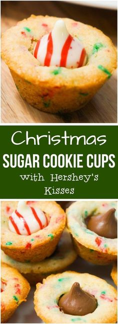 Sugar cookie cups w/ Hershey Kisses