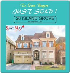this stunning home on 26 Island Grove, Brampton to our own buyers! Congratulations to our clients for selling their gorgeous home! Congratulations, Real Estate, Island, Mansions, House Styles, Home, Ad Home, Real Estates, Luxury Houses