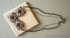 Orpheus Necklace Beading Tutorial with Arcos and Honeycomb beads