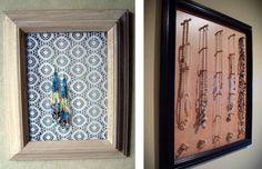Подставки для украшений своими руками из картинной рамки и сетки