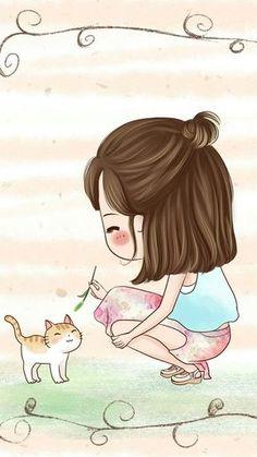 รูปภาพ cute, cartoon, and girl Anime Chibi, Kawaii Anime, Cute Cartoon Girl, Chibi Girl, Cute Cartoon Wallpapers, Cute Chibi, Anime Art Girl, Illustration Girl, Cute Images