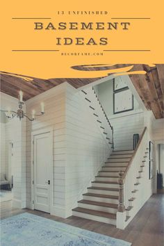 13 Unfinished Basement Ideas to Increase Your Home Value – Decorfame - Unfinished Basement Playroom, Basement Layout, Basement Ideas, Unfinished Basements, Open Shelving Units, Cinder Block Walls, Gym Room, Basement Makeover, Temporary Wall
