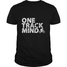 Get your exclusive One Track Mind Cycling T-Shirt. Available also with Black Text on Lighter colors. (Copy/paste this SKU into search: 645082257) Makes a great gift for any family or friend who is a cyclist, biker or into mountain biking.