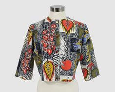 Mid-Century Vintage 1950s Cropped Boxy French by FunkySensations