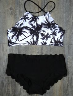 More summer please. Hit the beach in style with this classic and High-Waisted bikini. More cute pieces at WealFeel.COM !
