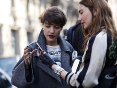 European Women. Super stylish with out trying to hard.  I want that gray jacket!