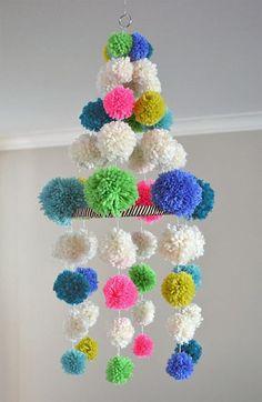 #DIY pom-pom chandelier