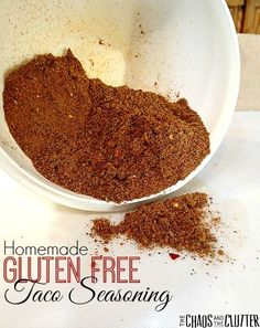 Homemade Gluten Free, Sugar Free, Lower Sodium Taco Seasoning