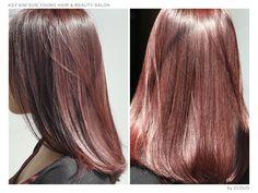 Keratin & Hair Coloring, Burgundy Brown