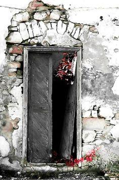 'Cretan door Photographic Print by Pia Schneider Knobs And Knockers, Door Knobs, Old Doors, Windows And Doors, Portal, When One Door Closes, Door Gate, Unique Doors, Grand Entrance