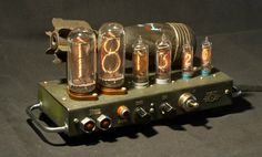 Fallout Vault-Tech Postapoc nixie clock by D.V.A